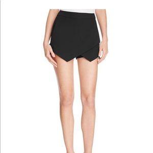 Aqua black dressy skort with pockets